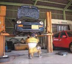 自社陸運局認証の整備工場にて、整備・塗装・鈑金しております。