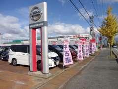 広い展示場にお買い得車から高年式車まで多数ご用意!