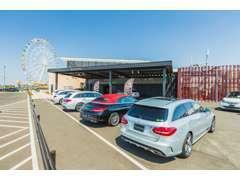 屋外展示場は全車2年または1年間走行距離無制限のメーカー保証付在庫車が50台以上を展示。