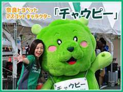 意外と出現率は高いです!奈良トヨペットのマスコットキャラクター『チャウピー』です!お店やイベントに登場しますよ★
