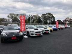 日本最大中古車オークション会場から近い為、仕入れ立ての入庫車を並べています。