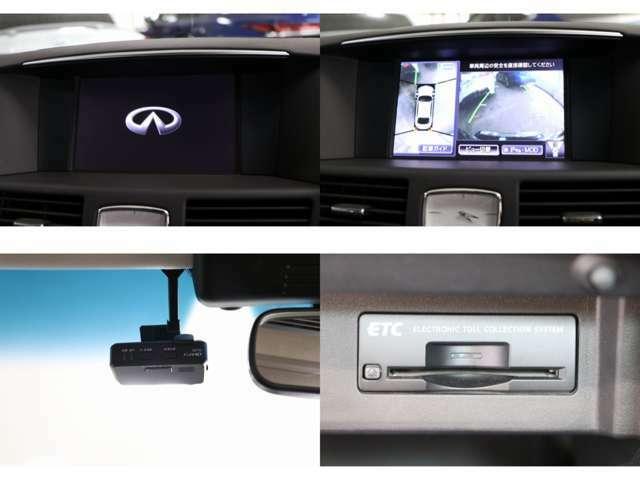 純正HDDナビ 地デジ ビルトインETC アラウンドビューカメラ CD/DVD再生 Bluetooth・USB接続