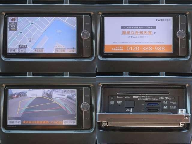 【インパネセンター上部・ナビ部】純正SDナビ(NSZT-W62G)付いてます♪フルセグTV・バックカメラ・DVD/CDに対応しています♪