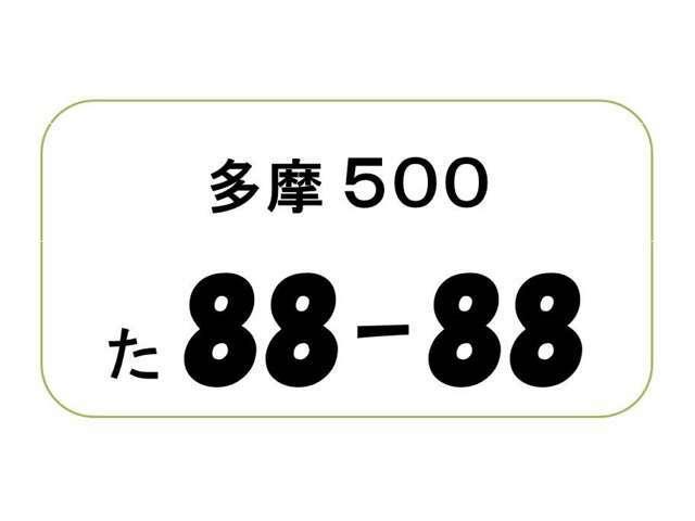 Aプラン画像:ナンバープレートの4ケタの数字をお好きな数字が選べます。