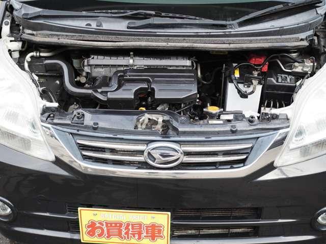 ■エンジンルーム: タイミングベルトは安心のチェーンタイプですので交換は不要になっております。