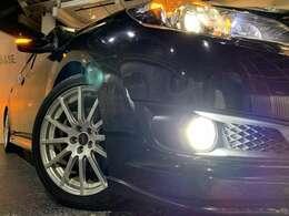STI18インチホイール☆タイヤサイズ225/45R18☆STIコイルスプリング☆HIDヘッドライト☆ポジションランプ・フォグランプLED化☆ウィンカーミラー☆