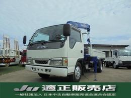 いすゞ エルフ タダノ 3段クレーン 積載量2トン フックイン 2.63t吊り