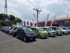 総在庫約100台!!ディーラーならではの高品質なお車を中心に、お客様の様々なニーズにお応えできる品揃えが自慢です。