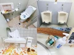 お手洗いは季節毎のデコレーションにこだわっております。アメニティもご用意しておりますのでご自由にお使いください。