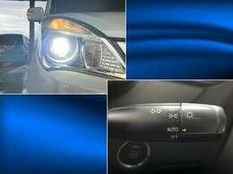 ナイトドライブの強い味方として人気のHIDヘッドライトです!暗くなったら自動でライトを点灯してくれるオートライトスイッチも付いています!