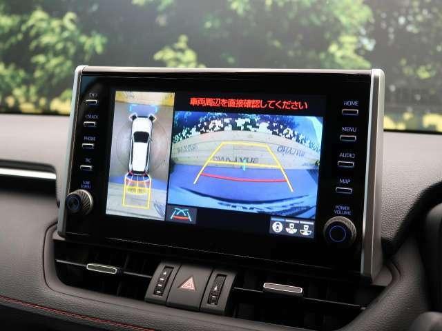 全周囲モニターを装備!【駐車の際、ナビ画面に車を真上から捉えた映像が映ります。駐車の際にとても便利な装備です♪】