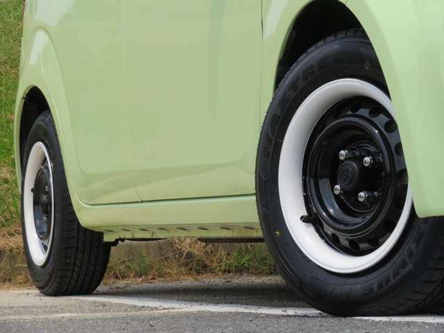 ♪ホイール&リムカバーはペイントし、新品タイヤを装着しております!♪