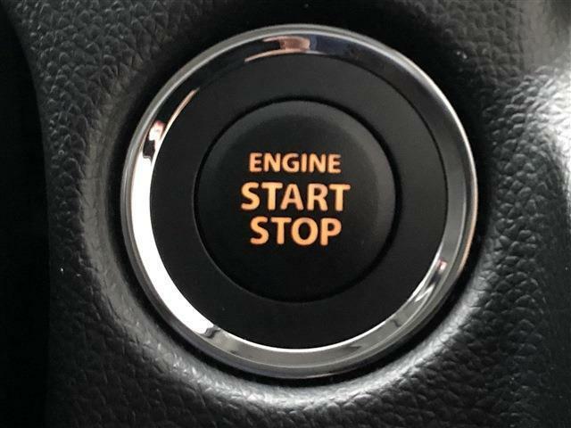 カギを持っているだけでエンジンがかけられる便利なキーレスプッシュスタートシステム付です。