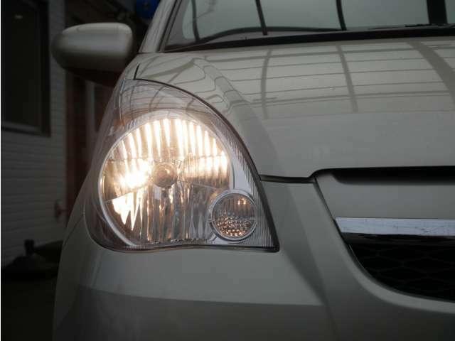 【ハロゲンライト】暗い夜道や視界の悪い日でも快適なドライブが可能!『LED』や『HID』といったさらに明るくスタイリッシュなヘッドライトにもOPで変更可能です☆