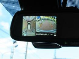バックカメラ&アラウンドビューはルームミラーの左側に表示されます!