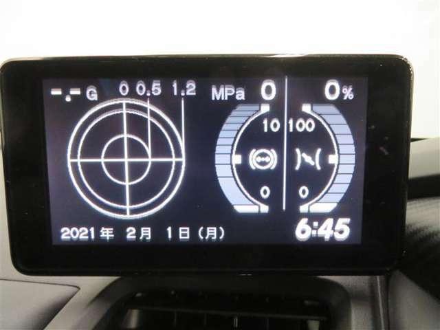 運転中の加速Gなどを表示する「Gメーター」、スポーツらしい機能を搭載したディスプレー・オーディオ。