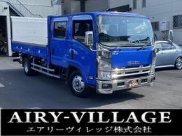 いすゞ エルフ Wキャブ パワーゲート ワイドロング2.75t ワンオーナー/新明和パワーゲート1000kg