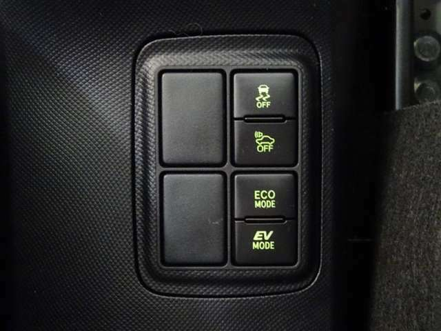 走行モードはボタン一つで切替可能です