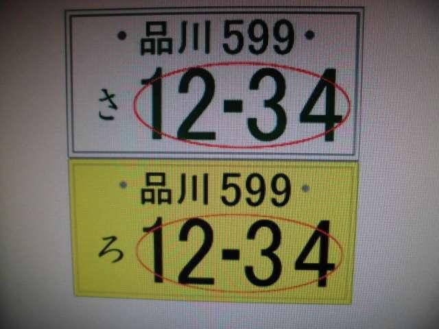 Aプラン画像:☆ご自分のお好きな番号で、気持ちも愛着も倍増!記念日や誕生日など4桁の様々な組み合わせ番号が可能です!*幾つかのゾロ目番号や続きナンバーに付きましてはくじナンバーとなりますので相談に応じます!