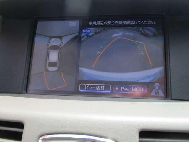 純正のHDDナビです。CDからの録音も簡単!フルセグTVやDVDビデオの視聴も出来ます。ご覧のように全方位カメラも付いてるので360°死角はありません。狭い駐車場でも安心ですね。