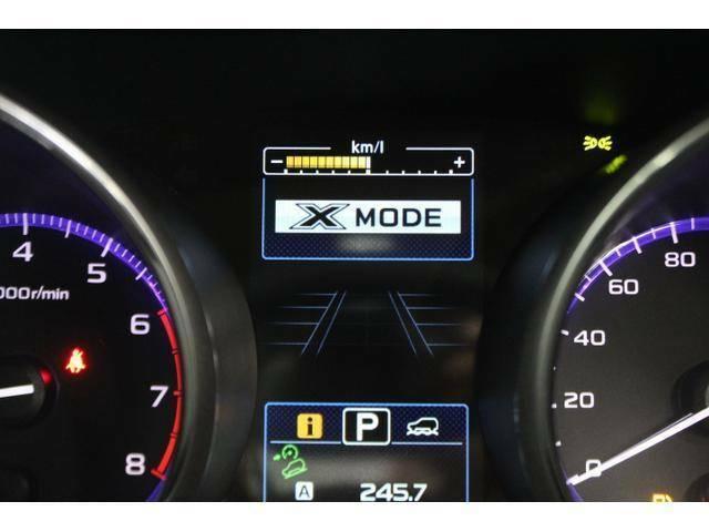Xモードは空転する前からスタンバイするのでスムーズな脱出が出来ます。水平対向エンジンと合わせたSUBARUの安全性能です