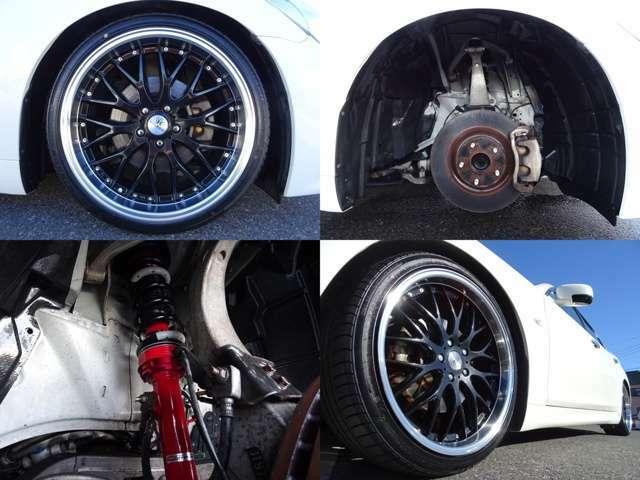 新品ロクサーニ20インチ!新品タイヤ!新品タナベ車高調!