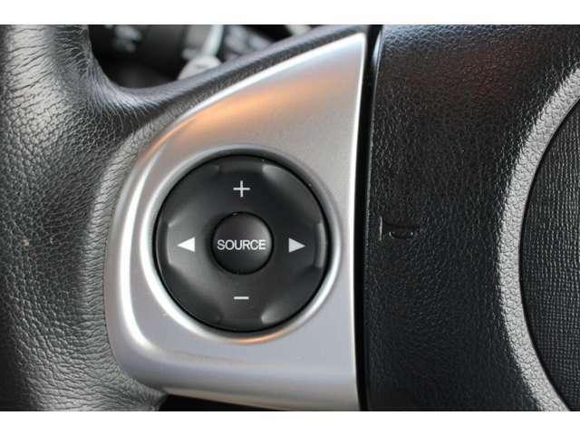◆ハンドル部にオーディオリモコンスイッチが装備されてます!手元で視界をそらさずにボリューム調整・モード切替・選局・曲順スキップなどが可能!安全運転をしながらの操作が可能です!