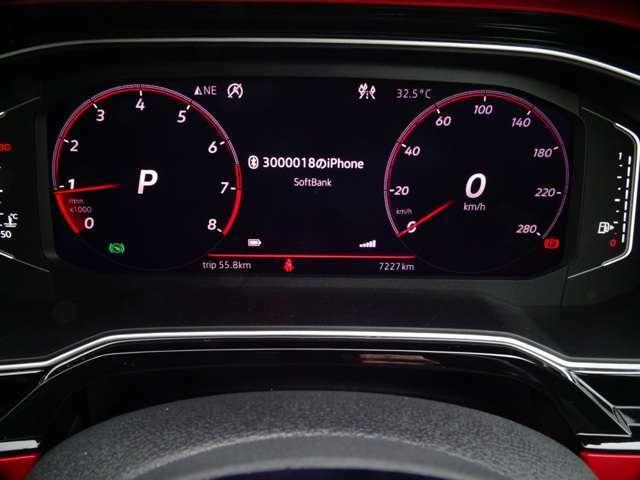 スピード&タコメーターを表示、デジタルでアナログ表示、コレこそテクノロジー!(続く)