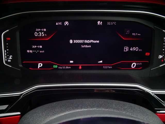燃費計を表示、スピードはデジタル表示(続く)