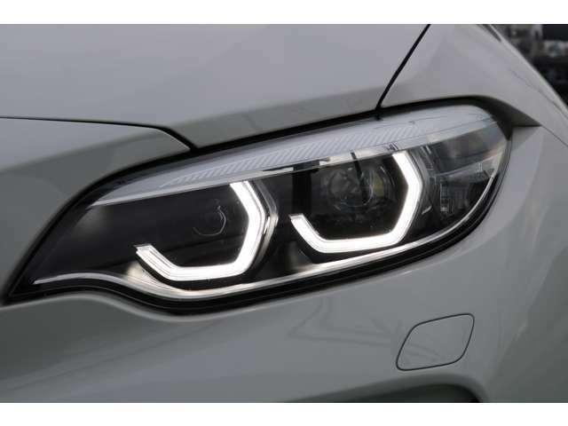 バイ・キセノン・ヘッドライト(光軸自動調整機構/LEDスモール・ライト・リング/LEDアクセント・ライン付き)