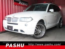 BMW X3 xドライブ30i MスポーツパッケージI (スポーツ・サスペンション) 4WD HDDナビCDチェン本黒革BVILLENSガンメタ20A