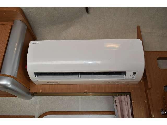 家庭用エアコン搭載となりますので寝苦しい夏の夜でも快適にお休み頂けます。