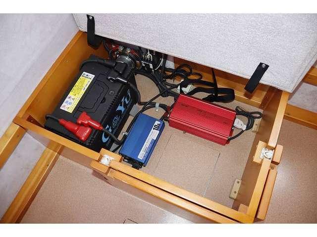 サブバッテリー・走行充電器・外部充電器・1000Wインバーター!!その他追加装備の取り付けも当社にお任せ下さい!!