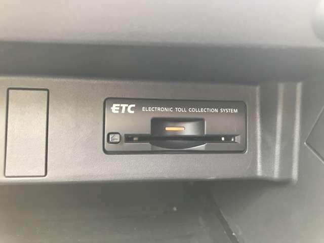 ETC装着済み!高速道路の料金所も楽々スイス~イと通れちゃいます♪お納車時点ではセットアップした状態でお渡しいたしますので、お客様の方で面倒な手続きは一切ございません!