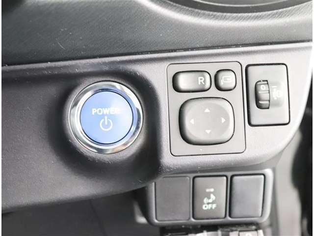 スタートボタンを押すだけでエンジン始動!