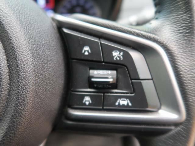 【全車速追従機能付クルーズコントロール】高速道路での長距離走行が楽に!!自動で速度を保つクルーズコントロールが、衝突軽減システムと連携し、前方の車両を感知して車間を保つように速度調節してくれます!!