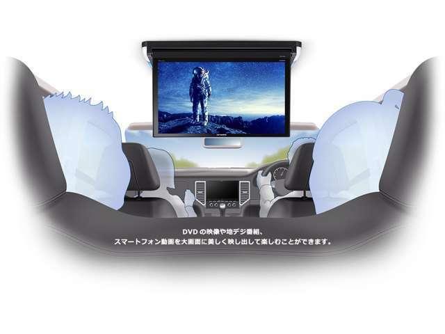 Aプラン画像:国内最大級13.3V型大画面 フルHD画質による迫力の映像美 DVDの映像や地デジ番組、スマートフォン動画を大画面に美しく映し出して楽しむことができます。