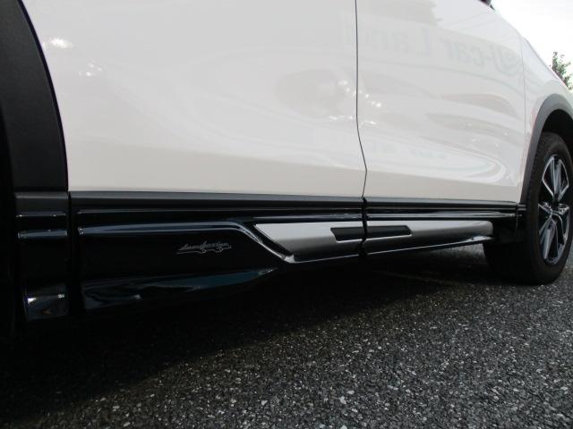 ☆DAMDエアロ☆フロントから続くサイドスポイラーで車のイメージがかなり変わります。