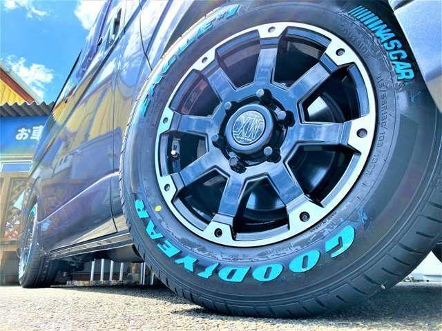 新品ホイール&新品タイヤ装備で安心安全です!!