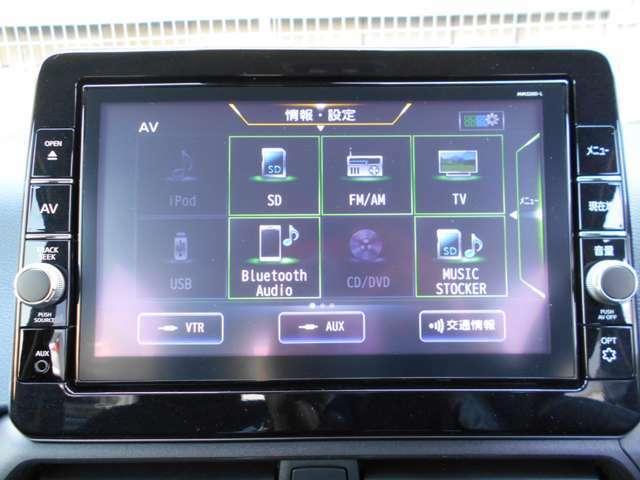 フルセグ&DVD再生&ブルートゥースオーディオ&CD録音などAV機器はとても豊富