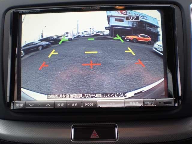 バックカメラ付きで車庫入れや、駐車場の後退駐車時など重宝します。