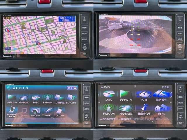 パナソニックストラーダHDDナビ(*'▽') フルセグTV・CD・DVD再生・HDD録音・SD&Bluetoothオーディオ・ハンズフリー対応等多彩なAV機能が魅力(*'▽')