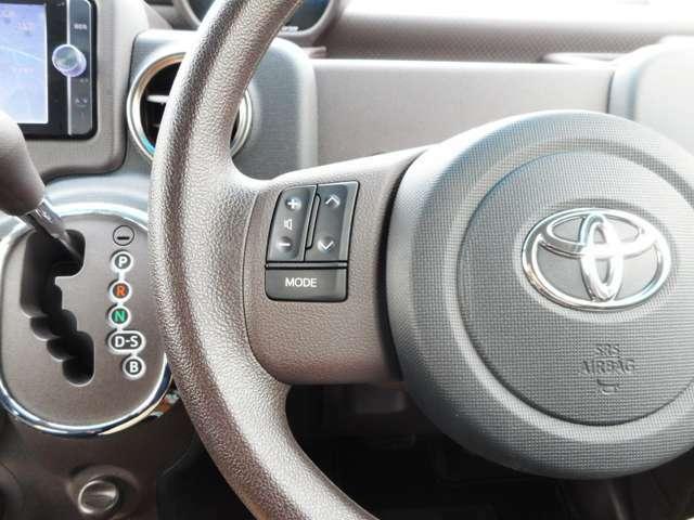 これも使うとわかる案外と便利な装備です!ハンドルコントロール付ですからステレオの基本操作は運転中も目線を外さず安全に行えます!!あると嬉しいちょっとした装備ですね!!