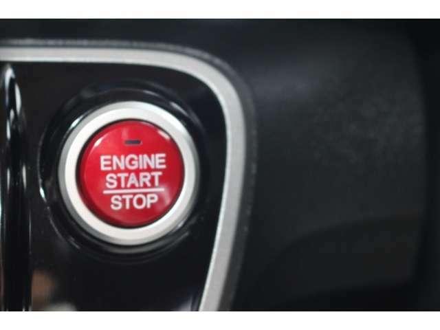 エンジンの始動、停止はプッシュ式です。