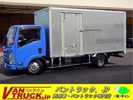 いすゞ エルフ 標準幅ロング アルミバン サイドドア 2トン MT バックカメラ 左電格ミラー