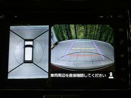 【全周囲カメラ】CMでも話題のフロント・サイド・バックにカメラが装備されていることで、上からの映像がモニター上に出ます!駐車が苦手な方でも駐車時も安心ですね♪