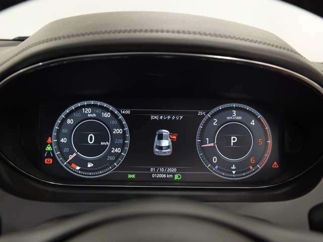 ドライバーディスプレイは、ナビ、電話、メディア、各種情報、エンターテインメントやアクティブセーフティのデータなどの表示が可能です。