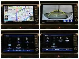 ホンダコネクト対応FIT専用9型ナビ フルセグ DVD Bluetooth CD録音 USB接続 ETC こちらはナビゲーションの各画面です。安心のバックカメラなどドライブの快適サポートが満載です。
