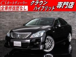 トヨタ クラウンハイブリッド 3.5 黒本革 HDD プリクラ NEW20AW エアロ
