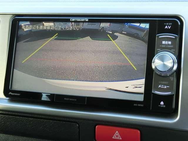 後方の安全確認や駐停車などに便利なバックモニターが装備されています。